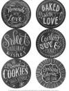Hand Lettered Chalk Art Labels