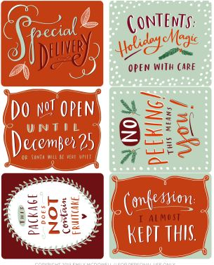 Funny christmas gift labels downloads budget101 funny christmas gift labels negle Choice Image