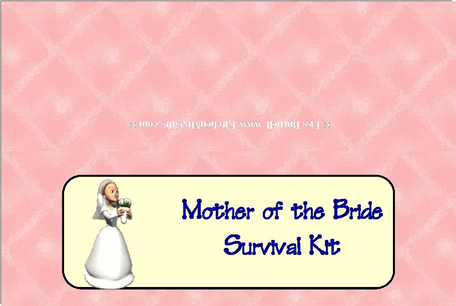 mother of the bride survival kit - downloads