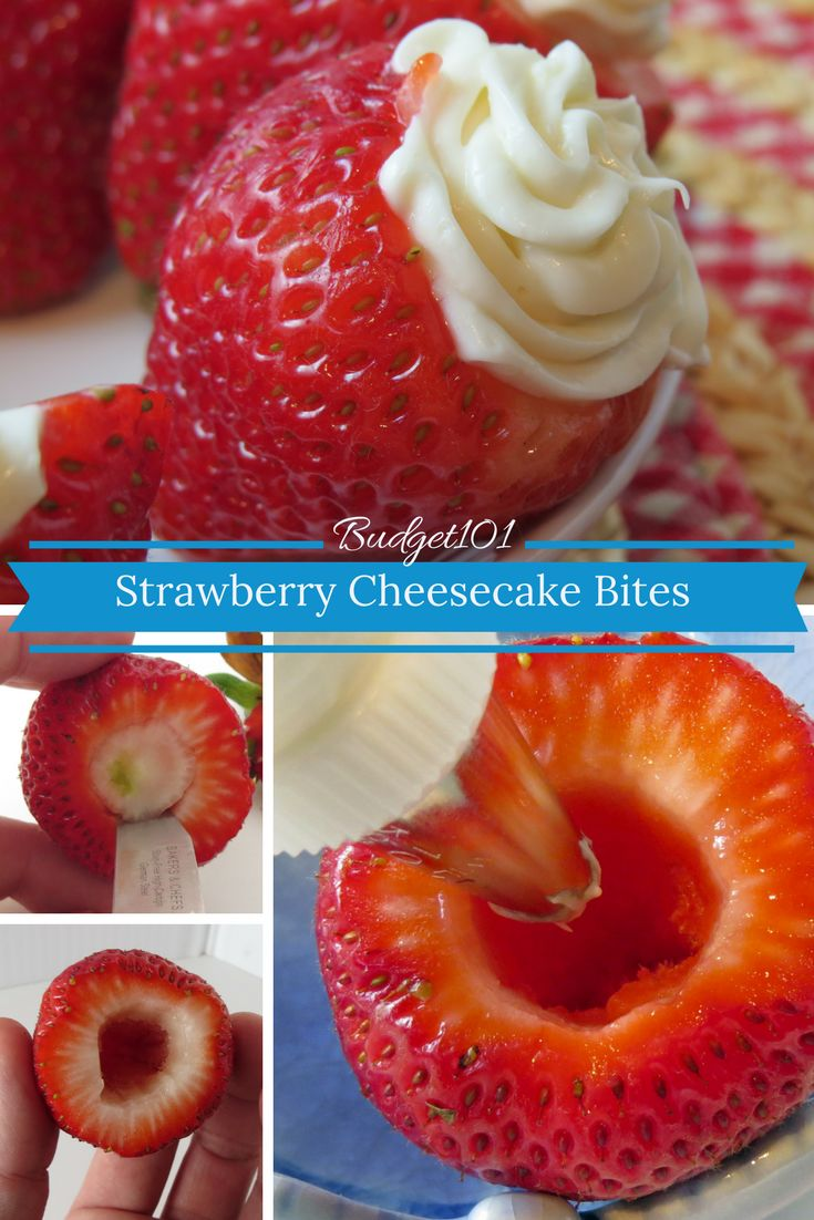 Luscious 4 ingredient Strawberry Cheesecake Bites, Quick and Easy