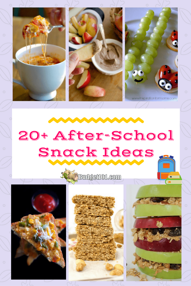 20+ easy after school snack ideas- budget101