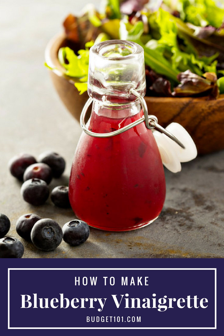 How to make Blueberry Vinaigrette in less than 5 minutes- a refreshingly light sweet-tart salad dressing