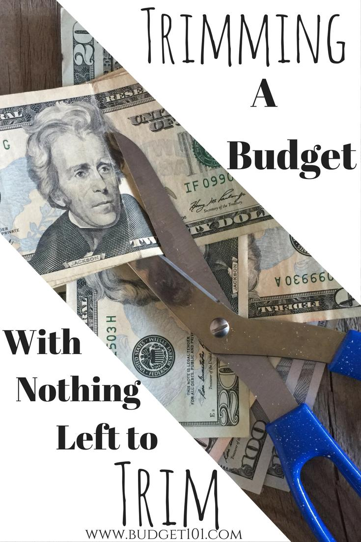 Drastic ways to Trim the budget when you've already cut everything there is to cut... here are several you likely forgot about!