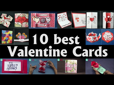 Valentine Card Ideas - Top 10 DIY Valentine Cards to Make At Home