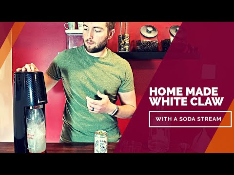HOME MADE WHITE CLAW - Soda Stream Recipe [Low Calorie and Sugar]