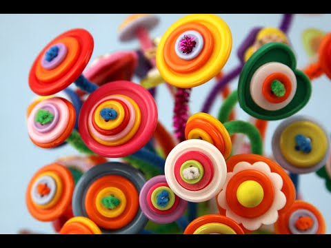 How to Make Button Flowers | Sophie's World