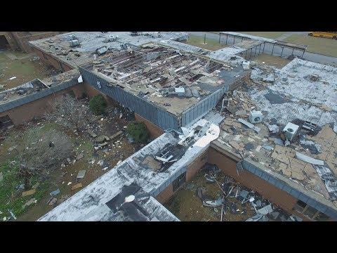 Tornado destroys South Carolina school: AERIALS drone video