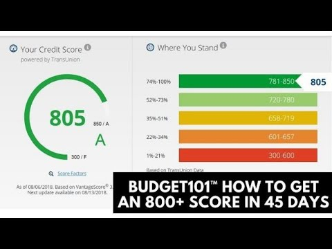 Budget101™ How to Increase your credit score to 800 in 45 Days