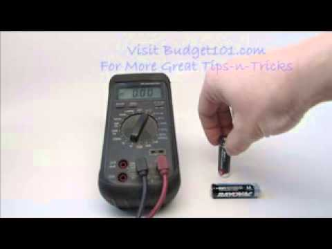 Budget101.com How to Test Batteries at Home in 3 Seconds flat WITHOUT a Multimeter