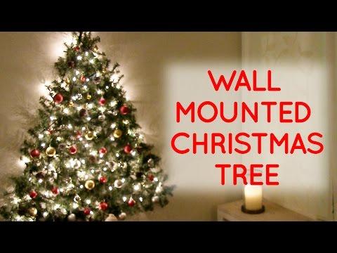 DIY wall mounted Christmas tree