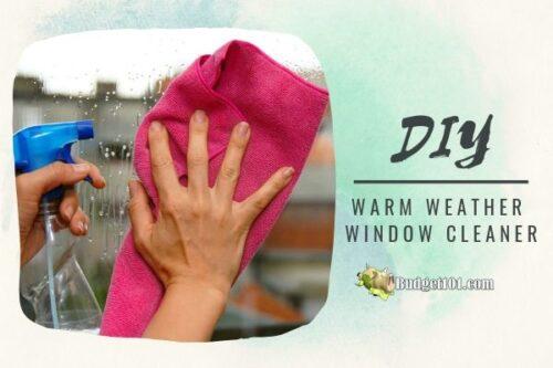 DIY cornstarch window cleaner sm