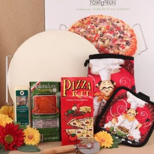 family pizza night gift basket idea