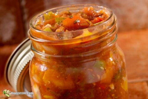 salsa mix in a jar