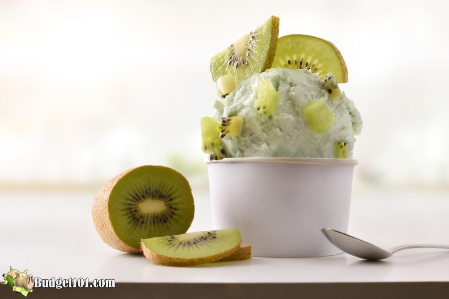 serving kiwi ice cream budget101