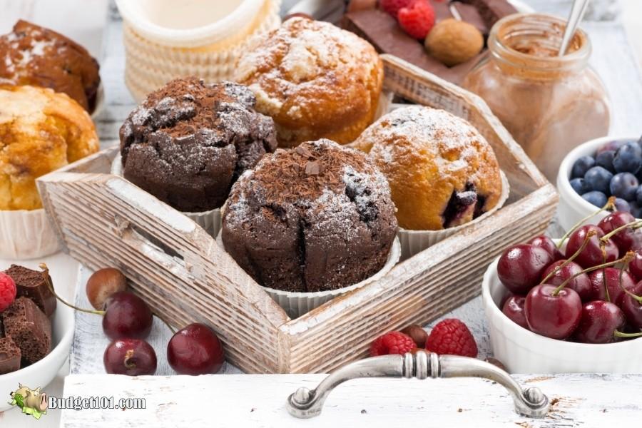 assorted homemade muffins