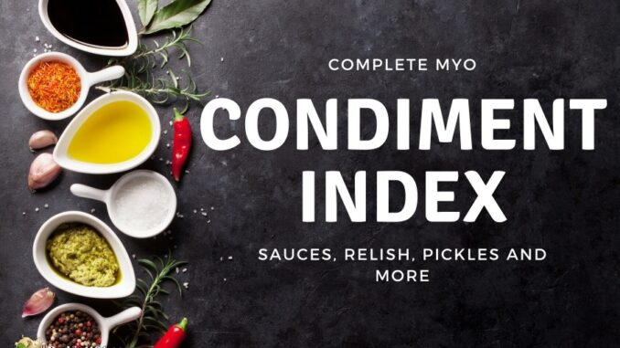 b101 condiments index