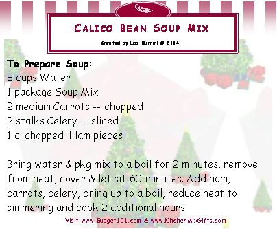 calico bean soup mix