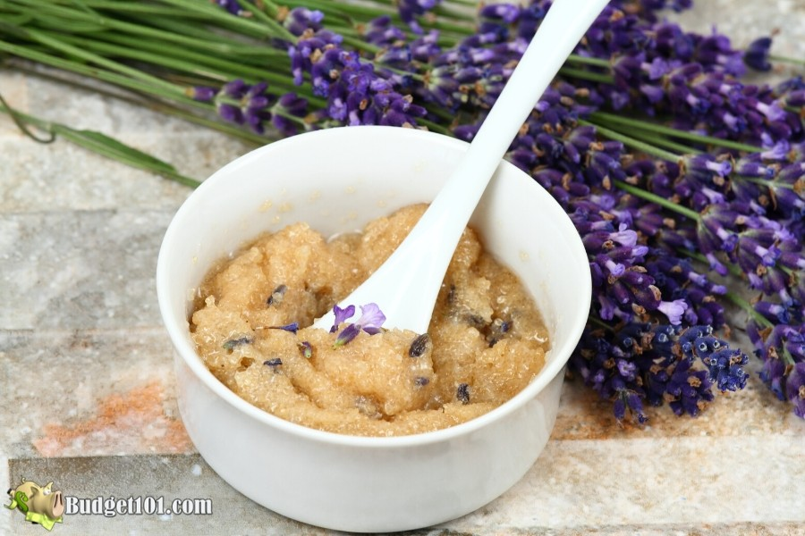 Budget101.com Lavender Rose Sugar Scrub Recipe