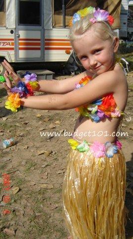 Hula Girl Costume Idea