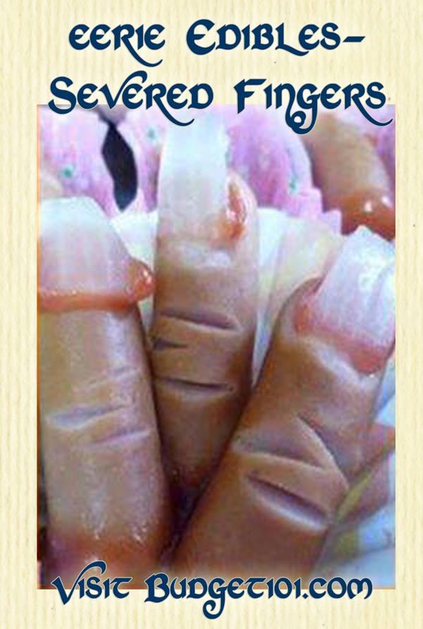 Severed Fingeres eerie edibles halloween food