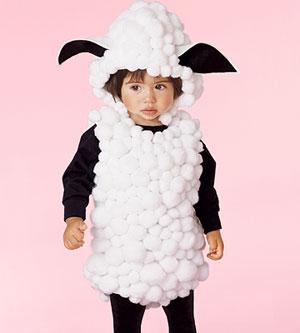 no sew lamb costume
