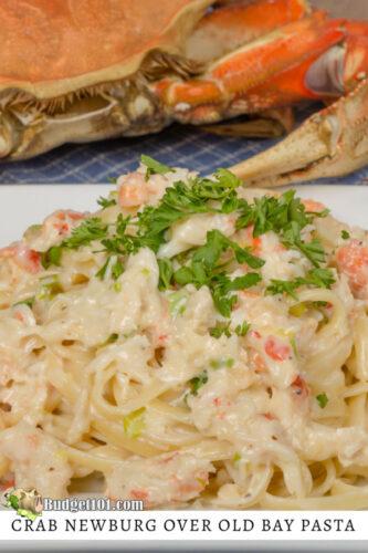 crab newburg over old bay pasta dirt cheap