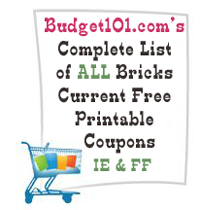 complete list of all current bricks coupons