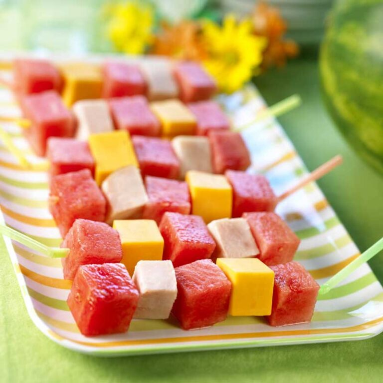 tropical fruit kebabs