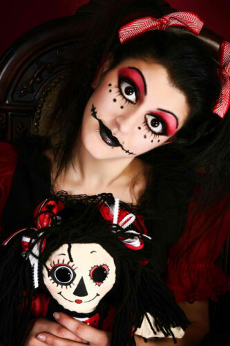 sexy goth doll costume idea