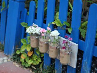 DIY Rustic Mason Jar Planter or Organizer