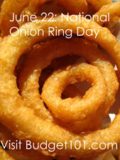 june 22nd national onion ring day