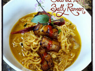 seared pork belly ramen