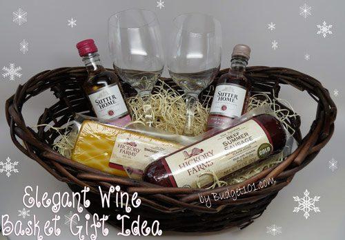 wine gift basket under 12