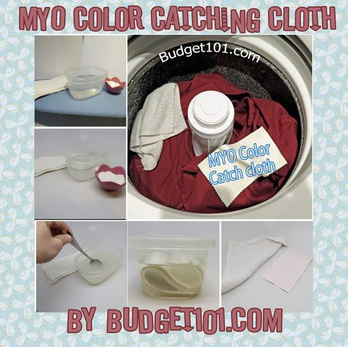 homemade laundry color catcher sheets