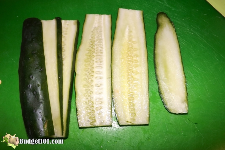 slice the cucumbers