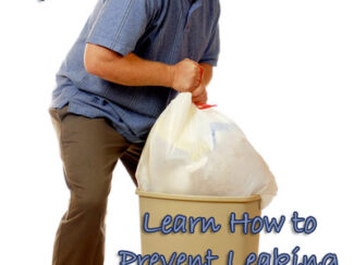 how to end leaking trash bags