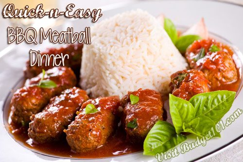 barbecued meatball dinner