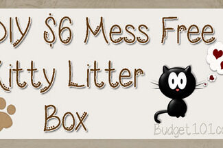 diy mess free kitty litter box