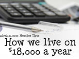 How we live on $18,000 a year
