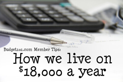 how we live on 18000 a year