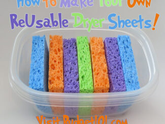myo reusable dryer sheets
