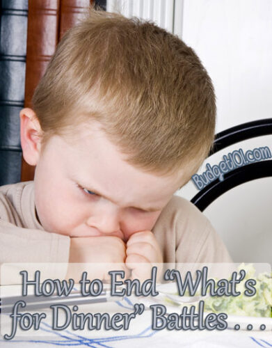 stop the tears with the dreaded whats for dinner question