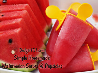 Watermelon Sorbet and Popsicles