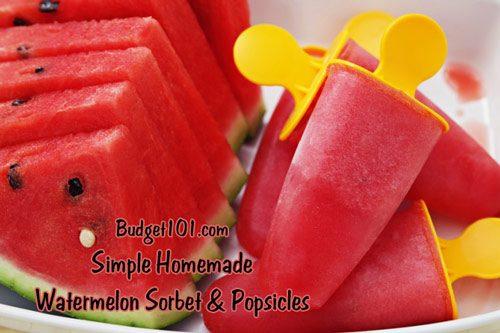 watermelon sorbet popsicles