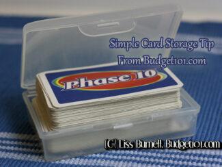 card game simple storage idea