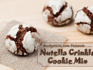 nutella crinkle cookies mix