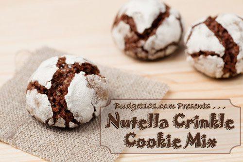 nutella crinkle cookies mix