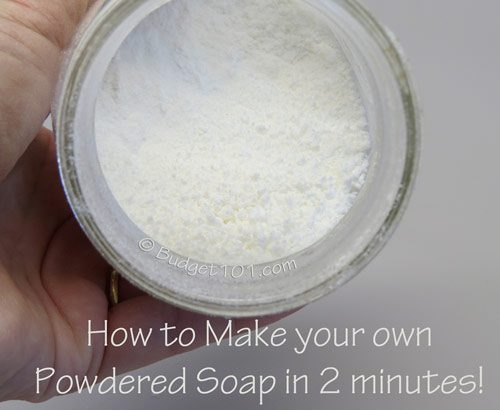 how to make your own powdered soap in 2 minutes flat
