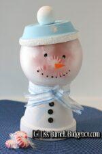 frosty the snowman candy jar craft