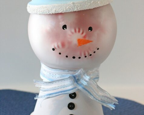 frosty the snowman candy jar craft